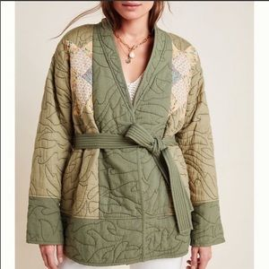 Anthropologie Moss Quilted Jacket